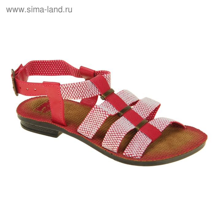 Туфли летние женские открытые, цвет розовый, размер 41 (арт. 143006-17 EW)