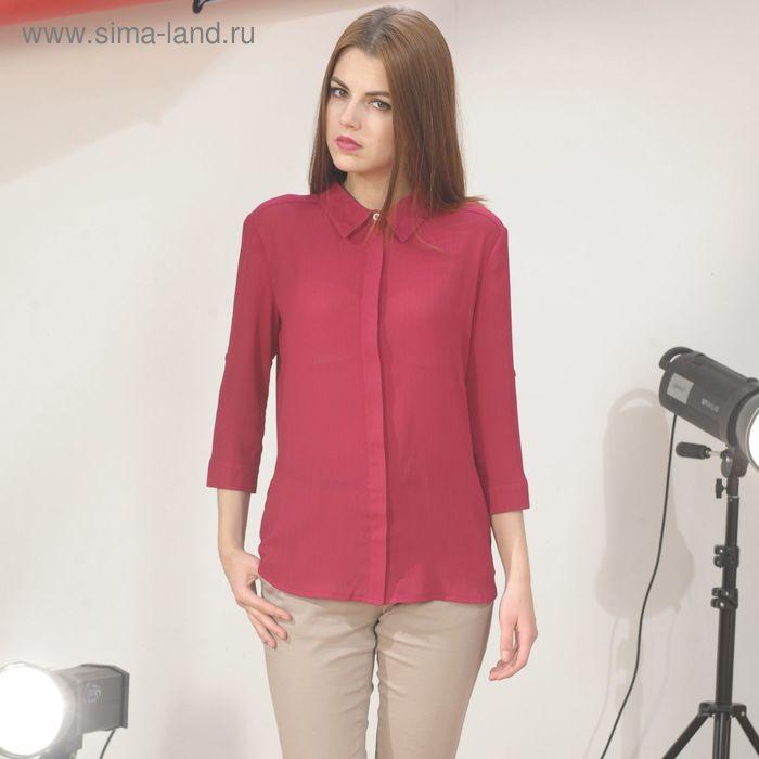 Блуза 4887г, С+, размер 50, рост 164см, цвет бордовый