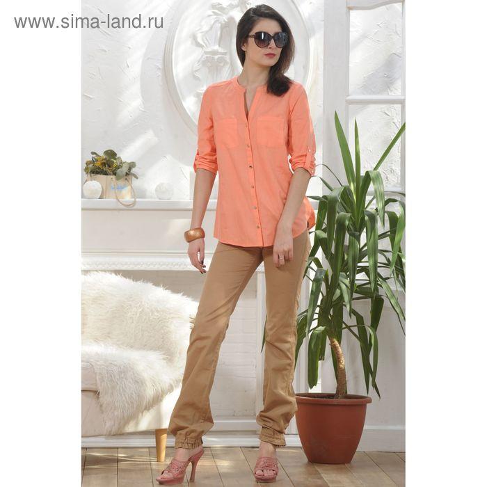 Блуза, размер 48, рост 164 см, цвет персиковый (арт. 4890)