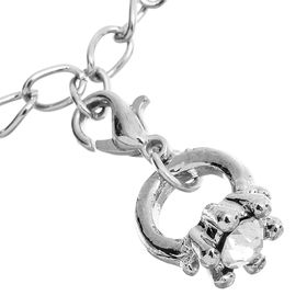 """Шармик """"Цветочек"""" кристалл, цвет белый в серебре"""