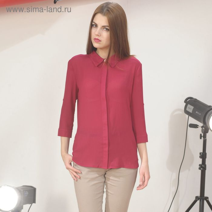 Блуза 4887г, С+, размер 56, рост 164см, цвет бордовый