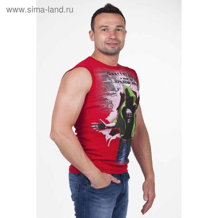 Майка мужская арт.0351, цвет красный, р-р 2XL