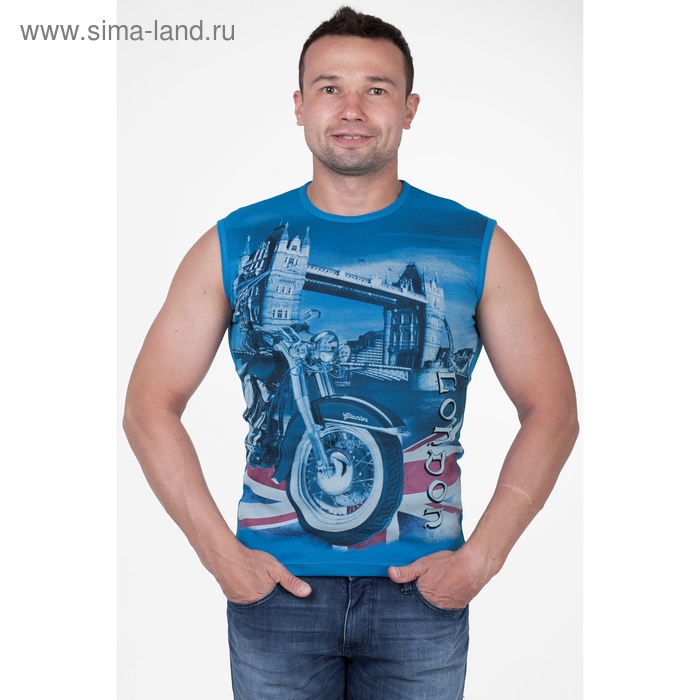 Майка мужская арт.0371, цвет бирюзовый, р-р XL
