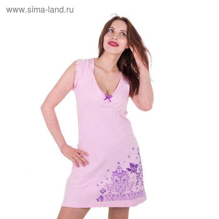 Сорочка женская, цвет розовый, размер 46 (арт. 30168)
