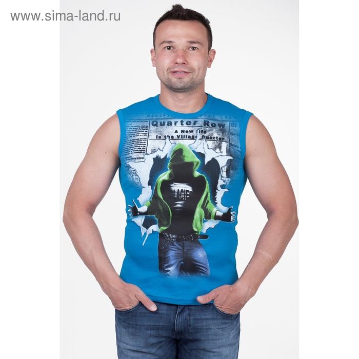 Майка мужская арт.0351, цвет бирюзовый, р-р M