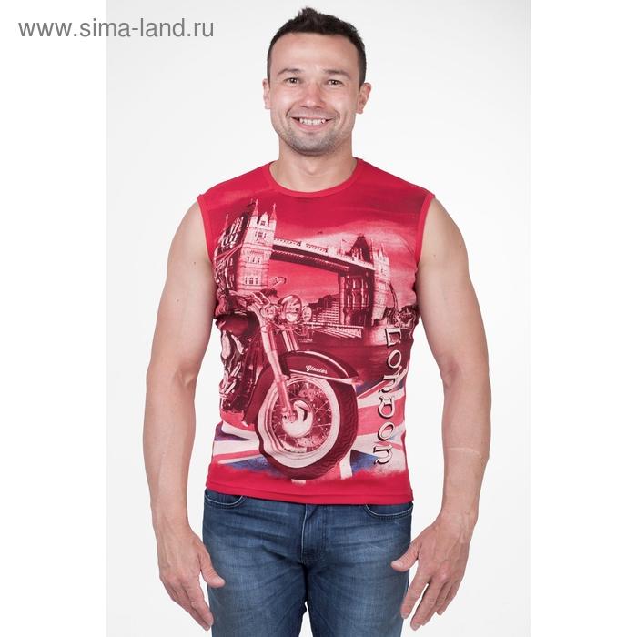Майка мужская арт.0371, цвет красный, р-р 2XL