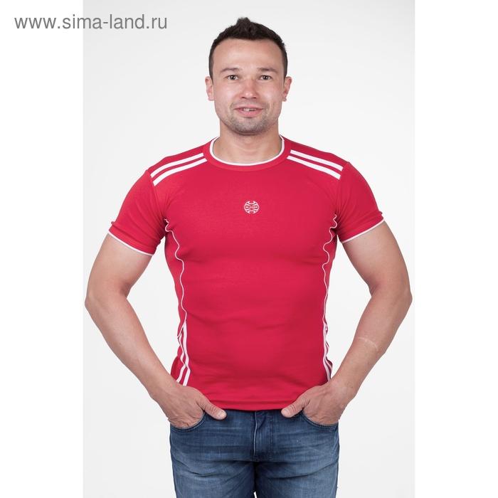 Футболка мужская арт.5062, цвет красный, р-р XL