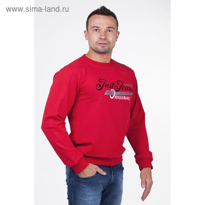 Джемпер мужской арт.0185, цвет красный, р-р XL