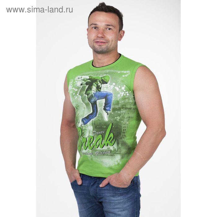 Майка мужская арт.0350, цвет зелёный, р-р 2XL