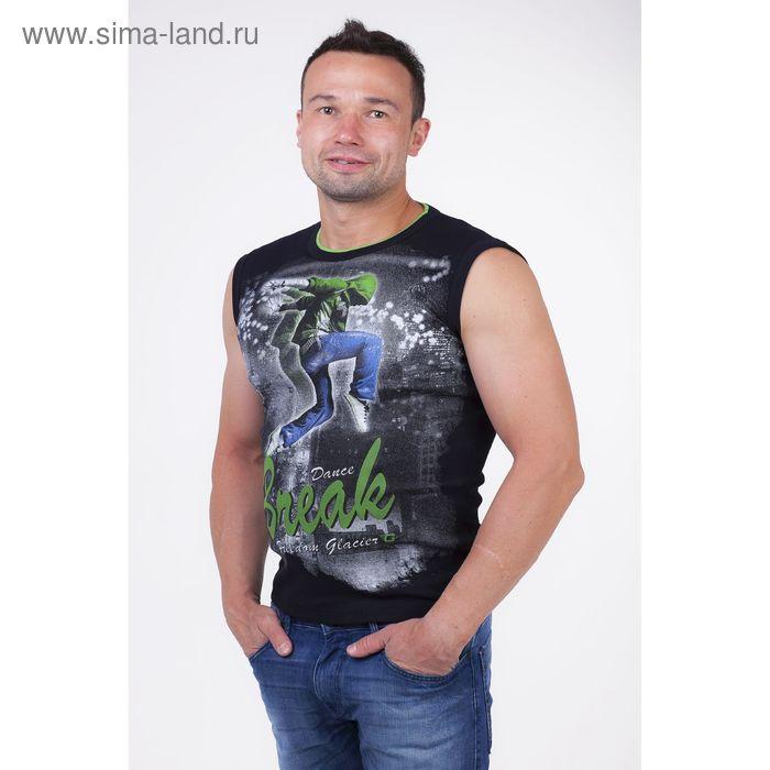 Майка мужская арт.0350, цвет чёрный, р-р 2XL