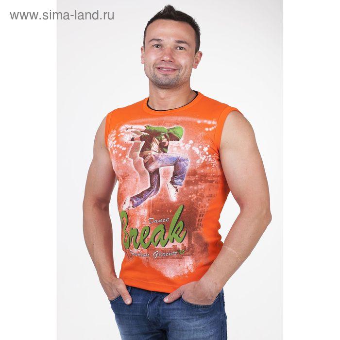 Майка мужская арт.0350, цвет оранжевый, р-р 2XL