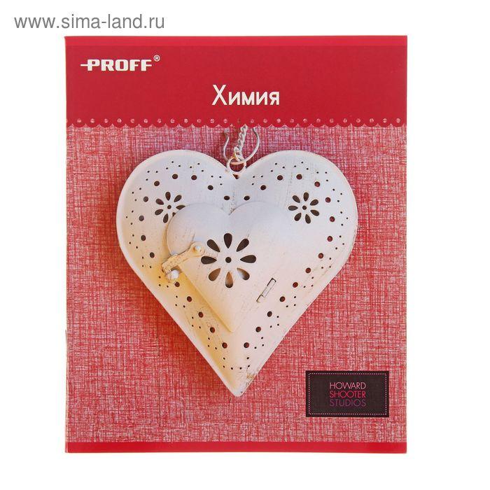 """Тетрадь предметная Hearts 48 листов клетка """"Химия"""", картонная обложка, двойной лак"""