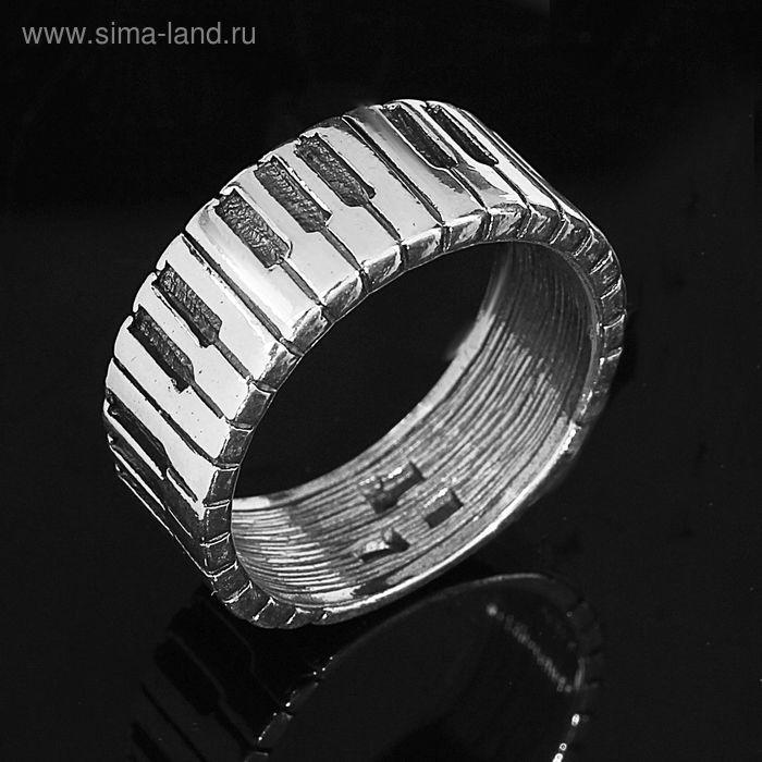 """Кольцо """"Рояль"""", размер 16, цвет черный в серебре"""