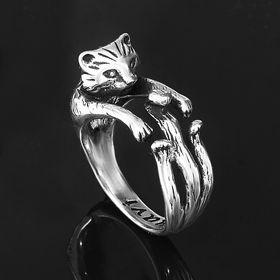 """Кольцо """"Тимон"""", размер 18, черненое серебро"""