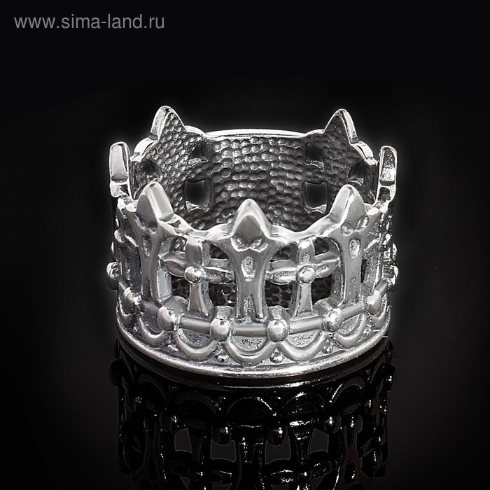 "Кольцо ""Габсбург"", размер 16, черненое серебро"