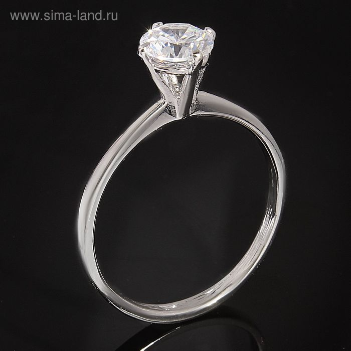 """Кольцо """"Катри"""", размер 21, цвет белый в серебре"""