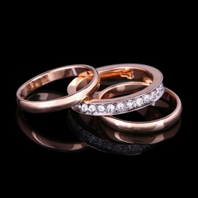 """Кольцо """"Игра"""", размер 16, цвет белый в золоте"""