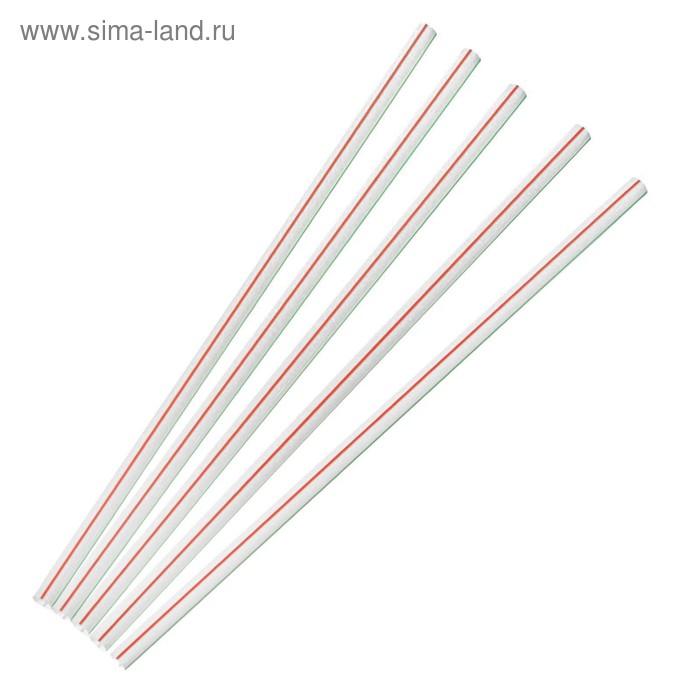 Набор трубочек для коктейля, 7х210 мм, Fresh, полосатые, 250 шт в упаковке