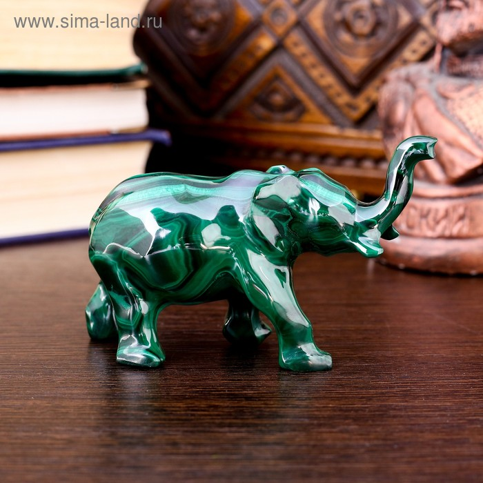 "Сувенир ""Слон"", малахит"