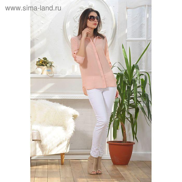 Блуза, размер 50, рост 164 см, цвет пудра (арт. 4887б)