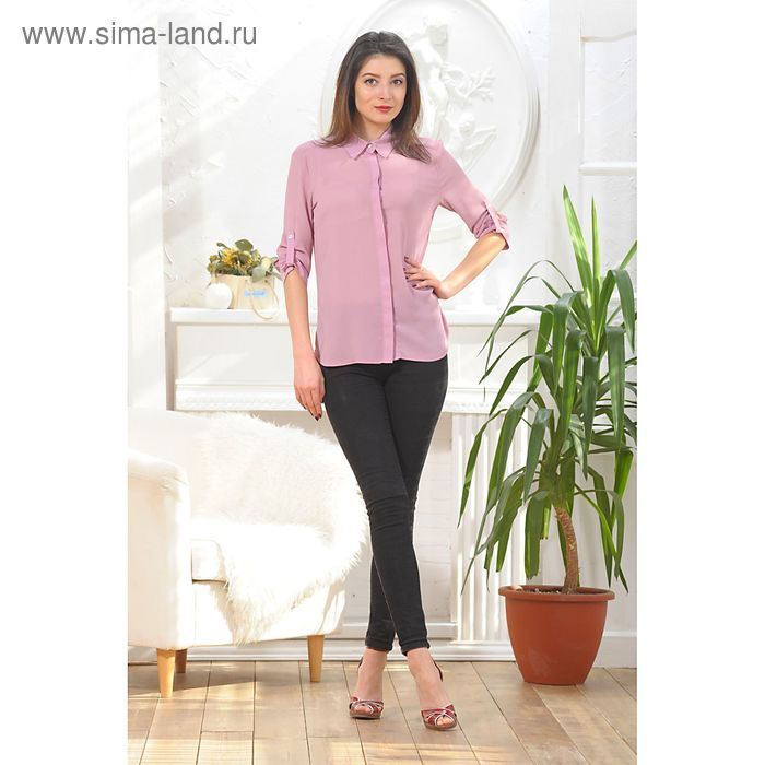 Блуза, размер 54, рост 164 см, цвет цикламен (арт. 4887а)