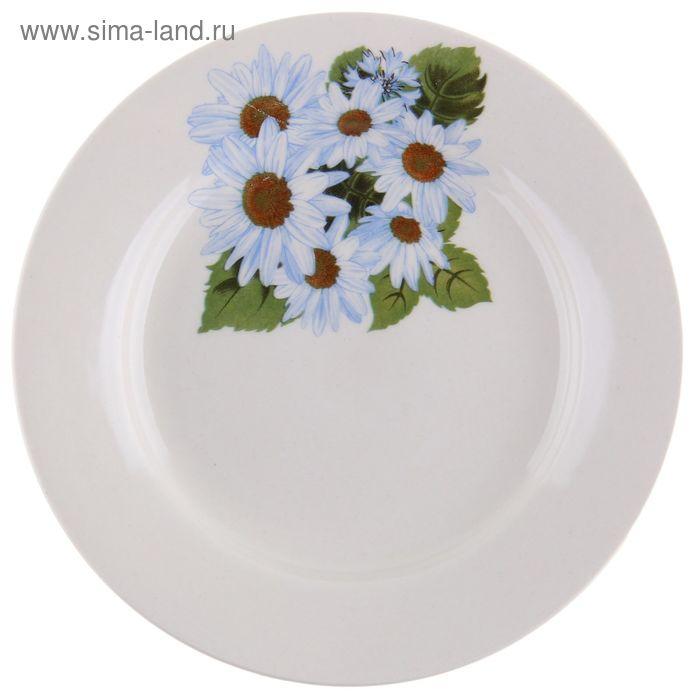 """Тарелка d=17,5 см """"Корона. Цветы"""" мелкая, рисунок МИКС"""