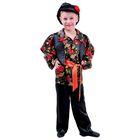 """Карнавальный костюм """"Цыганский"""", кепка, рубашка с жилеткой, брюки, красный пояс, обхват груди 60 см, рост 110 см"""