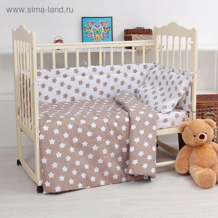 """Комплект в кроватку """"Малышок"""" (6 предметов), цвет бежевый 10606"""