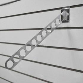 Кронштейн наклонный для экономпанелей, 11 отверстий, 400мм, хром