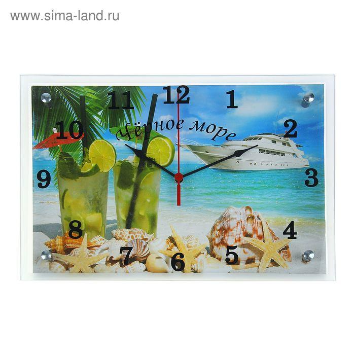 """Часы настенные прямоугольные """"Тропический коктейль"""", 25х35 см"""