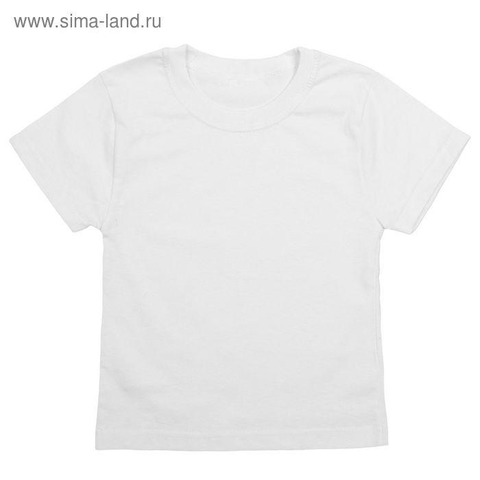 Футболка для мальчика, рост 110-116 см (32), цвет белый (арт. 251Д-1111)