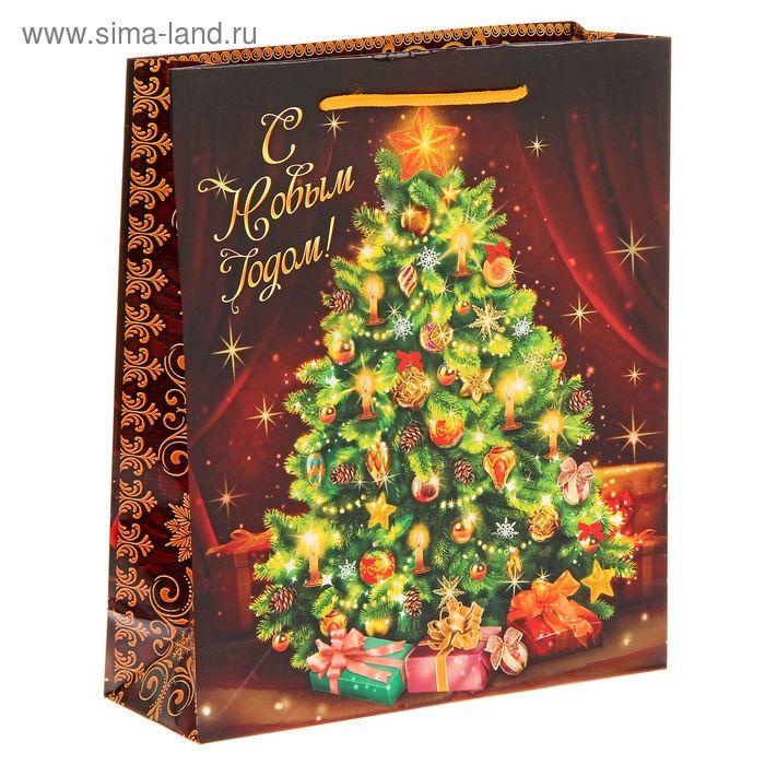 """Пакет ламинат вертикальный """"Новогодняя елочка"""", ML"""