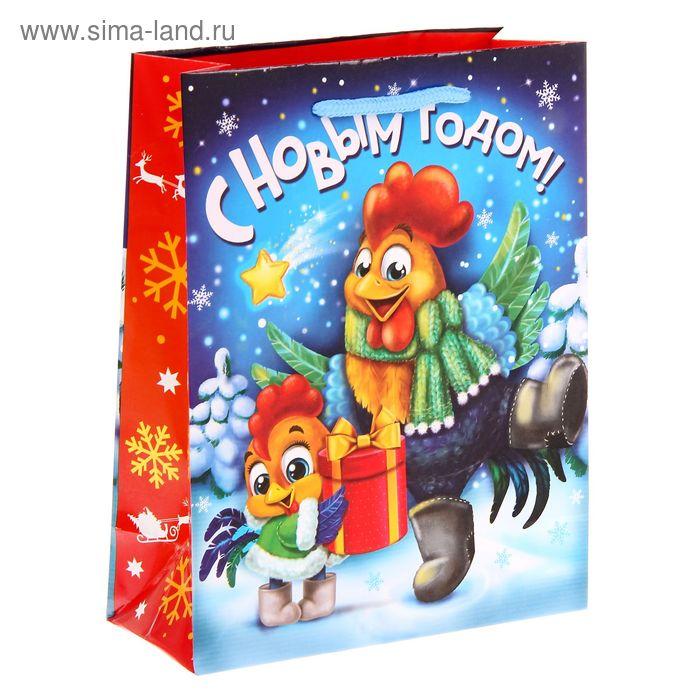"""Пакет ламинат вертикальный """"С Новым Годом!"""" MS"""