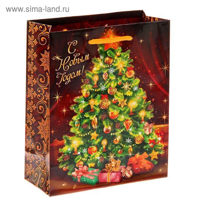 """Пакет ламинат вертикальный """"Новогодняя елочка"""", S"""