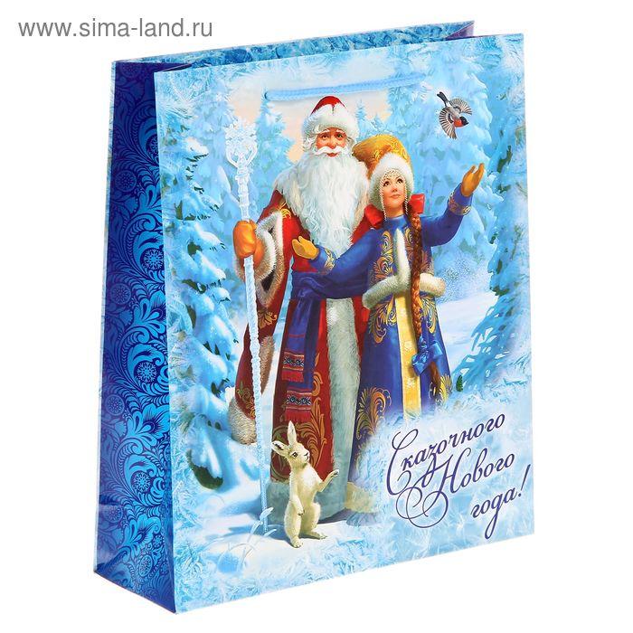 """Пакет ламинат вертикальный """"Дед Мороз со Снегурочкой"""" ML"""