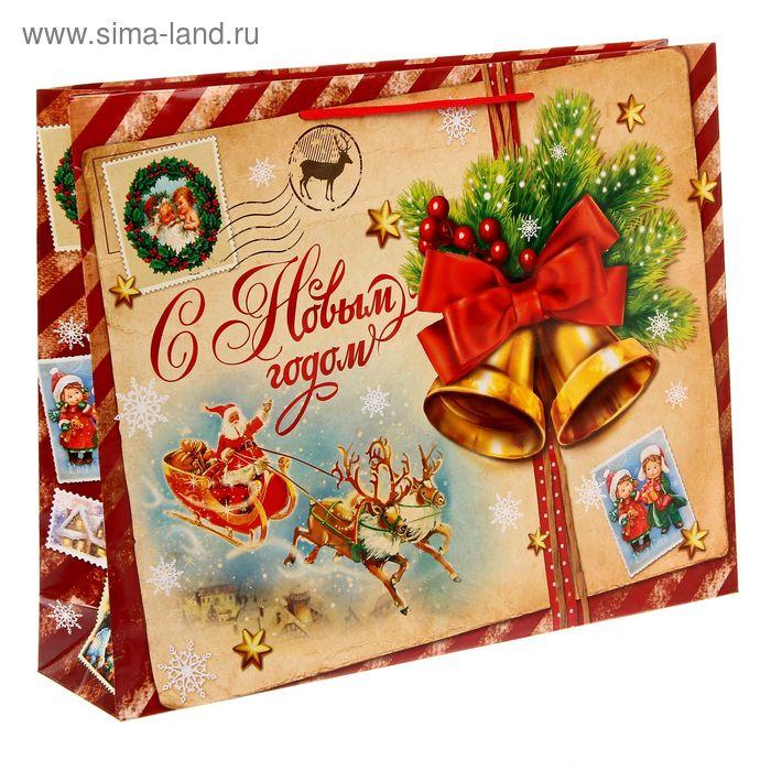 """Пакет ламинат горизонтальный """"Винтажная почта"""" L"""