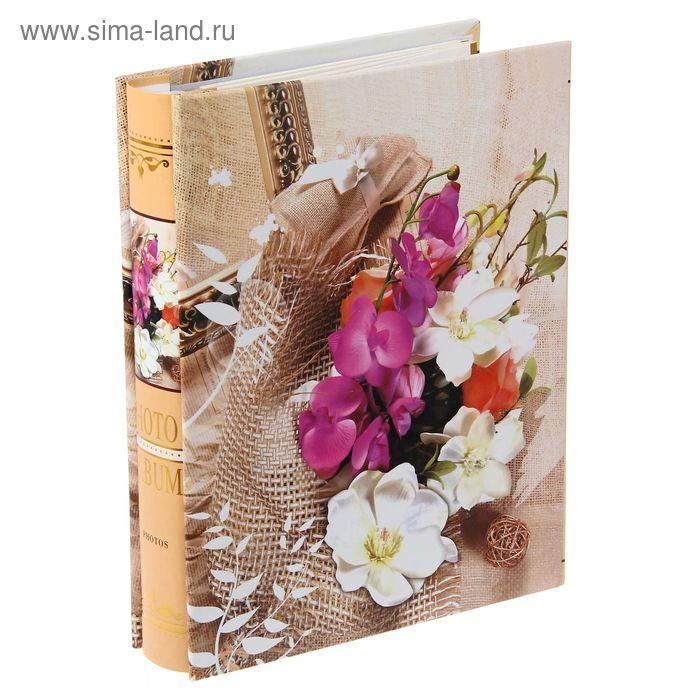 """Фотоальбом магнитный на 20 листов """"Цветочная композиция"""" в коробке, микс"""