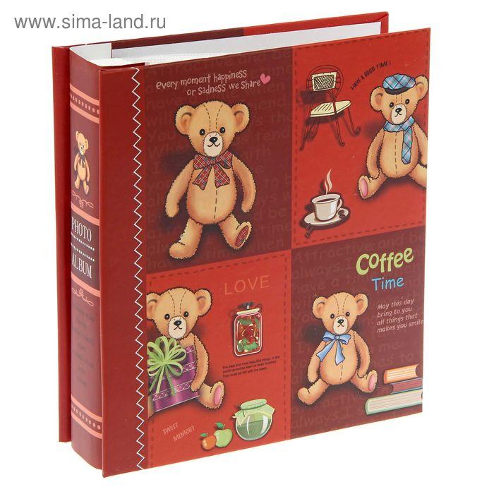 """Фотоальбом на 40 фото 10х15 см """"Медвежонок с бантом"""" в коробке, микс"""