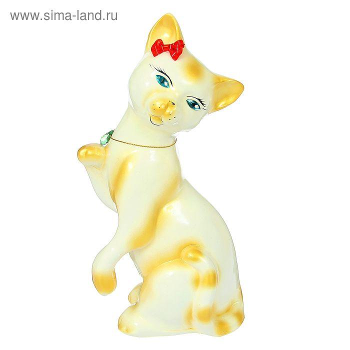 """Копилка """"Кошка Лапушка"""" малая, глянец, белая"""