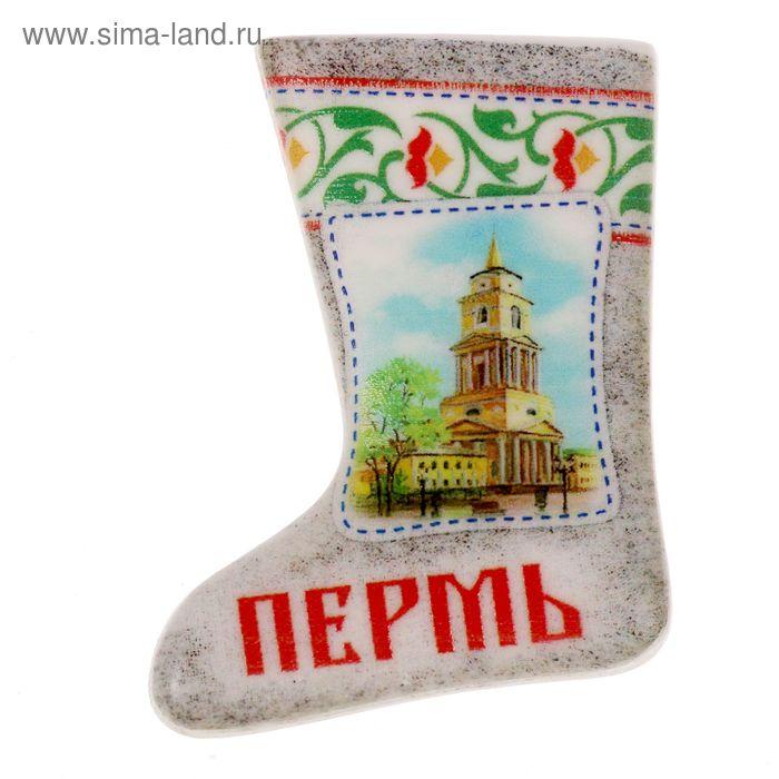 """Магнит в форме валенка """"Пермь"""""""