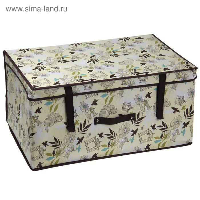 "Короб для хранения ""Птицы"" 60х40х30 см, с крышкой"