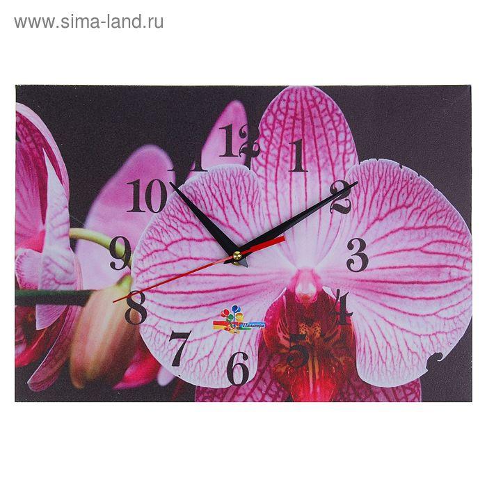 """Часы настенные прямоугольные """"Орхидея"""", 25х35 см"""