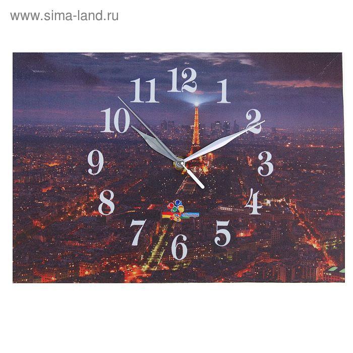 "Часы настенные прямоугольные ""Париж"", 25х35 см"