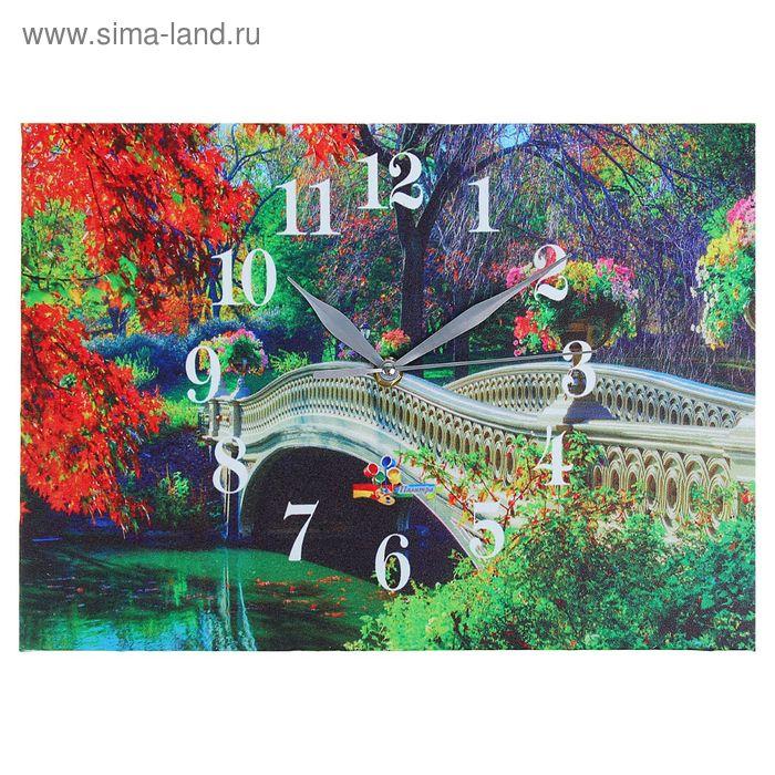 """Часы настенные прямоугольные """"Старый мост"""", 25х35 см"""