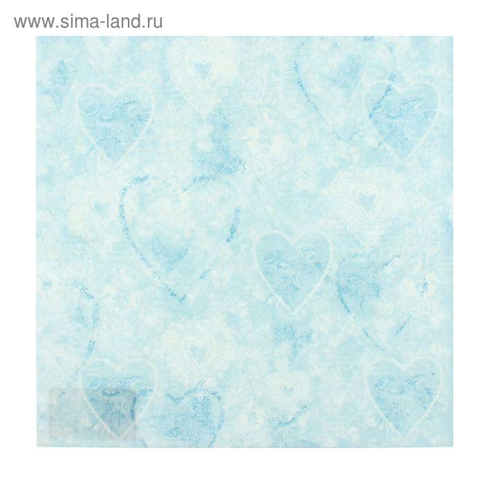"""Войлочное полотно с рисунком """"Голубые сердца"""""""