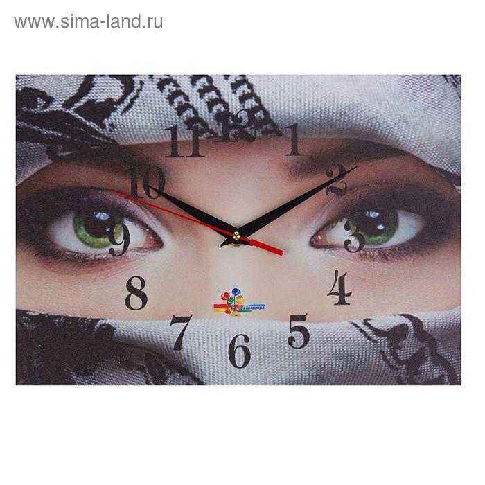 """Часы настенные прямоугольные """"Женщина-загадка"""", 25х35 см"""