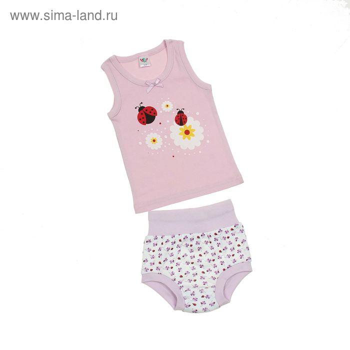Комплект для девочки (майка с плечом, трусы), рост 62 см (40), цвет светло-сиреневый (арт. 311)