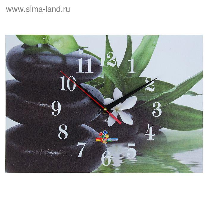 """Часы настенные прямоугольные """"Вода и камни"""", 25х35 см"""