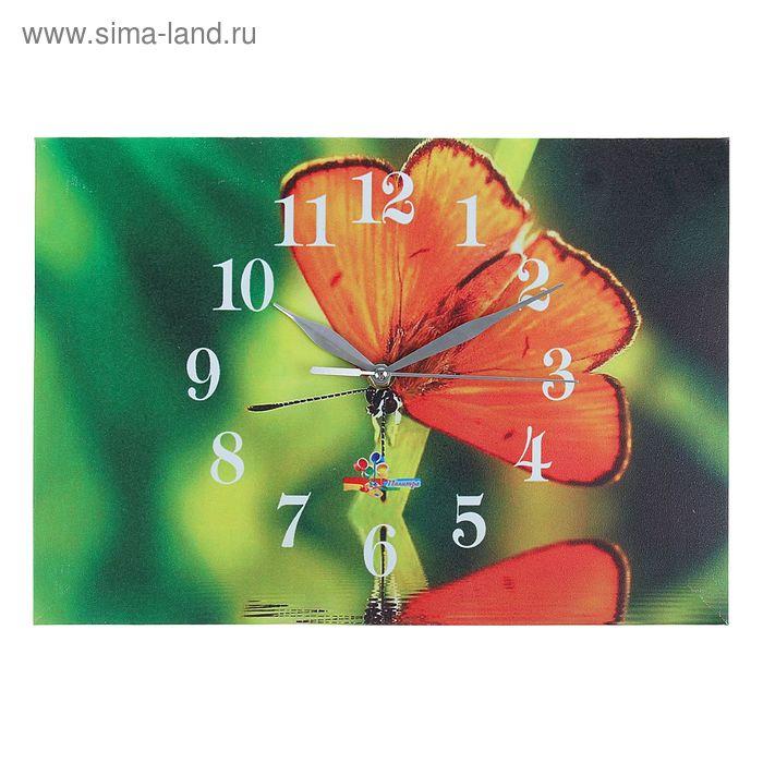 "Часы настенные прямоугольные ""Бабочка"", 25х35 см"