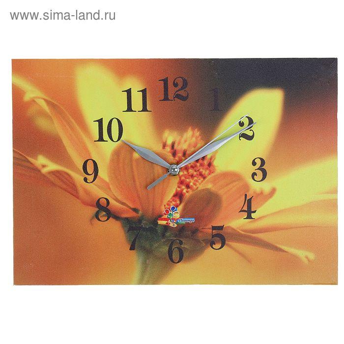 "Часы настенные прямоугольные ""Желтый цветок"", 25х35 см"